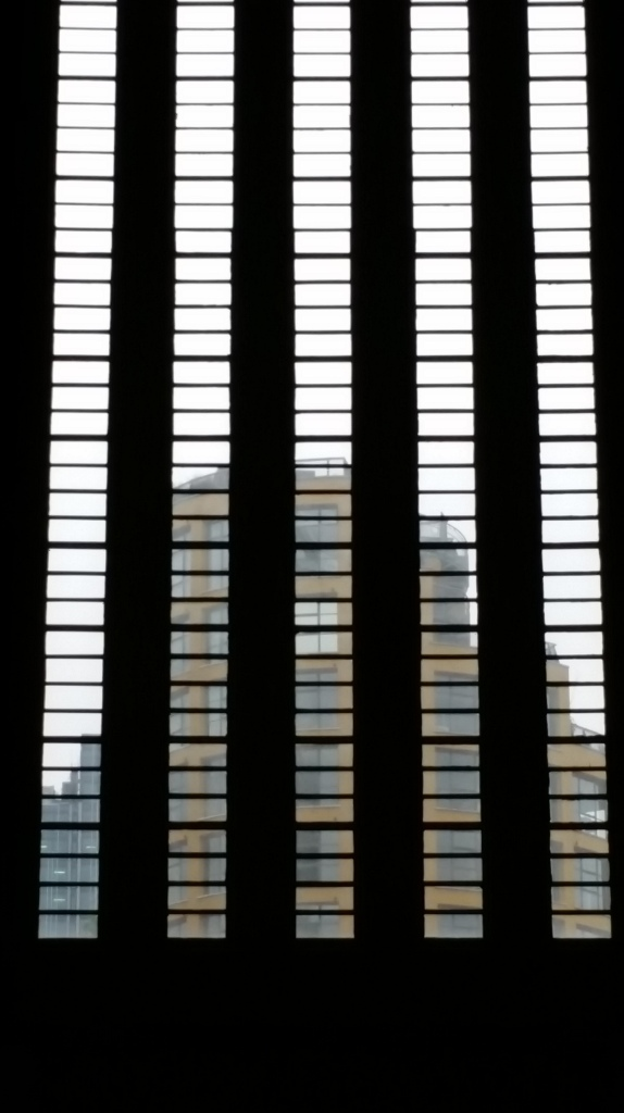 Pic of the window to the Turbine Hall, Tate Moders, London